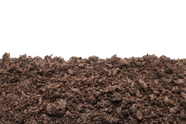 Черная земля для растений изолированные