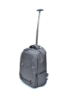 Black laptop bag isolated on white
