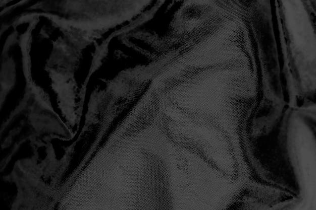 Черный льняной текстурированный фон