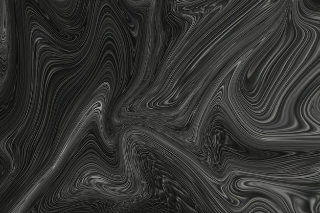 Черный жидкий мрамор фон абстрактная плавная текстура экспериментальное искусство