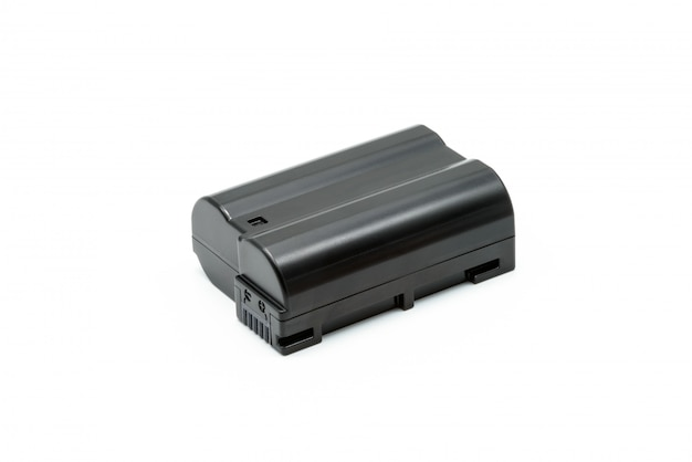 Black lithium ion battery pack isolated