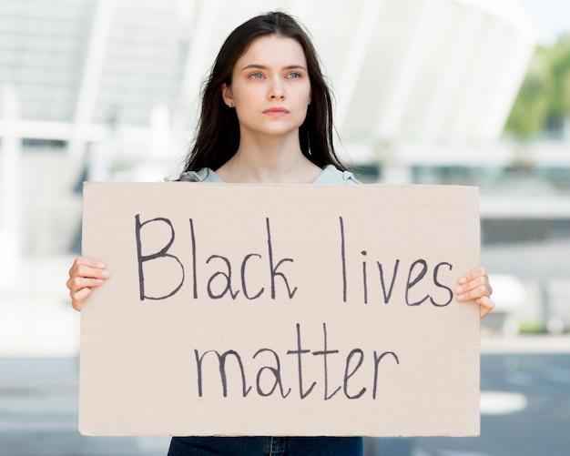 Black lives matter front view