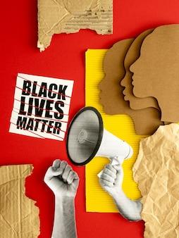 Черная жизнь имеет значение, протестуя
