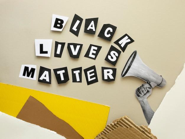 ブラック・ライヴズ・マター・テキストの上面図