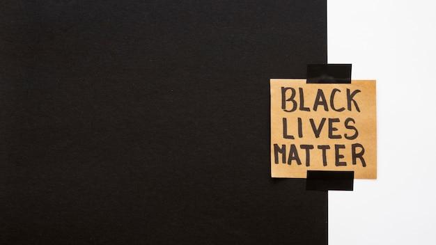 복사 공간이있는 흑인 삶의 중요성