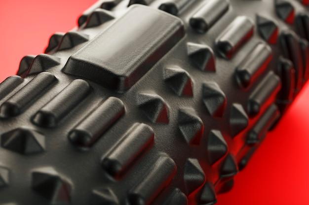 Black lumpy foam massage roller