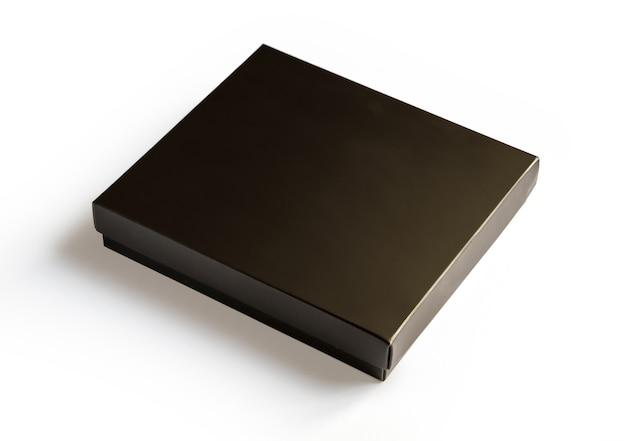 分離された黒の高級ギフトボックス