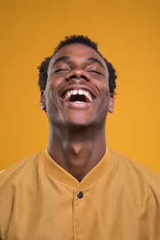 Black man posing