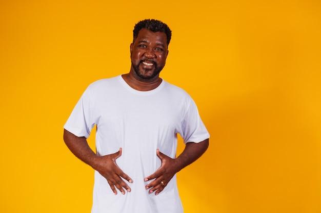 Black man with stomach ache