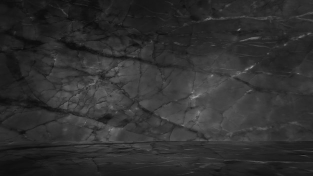 검은 대리석 자연 배경, 추상 흑백.