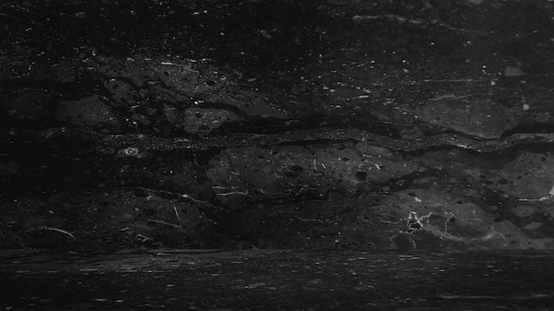 黒大理石の自然な背景、抽象的な黒と白。