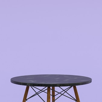 Black marble table or product stand for display product on purple background
