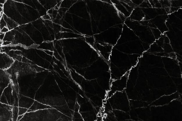 Black marble texture with natural pattern background