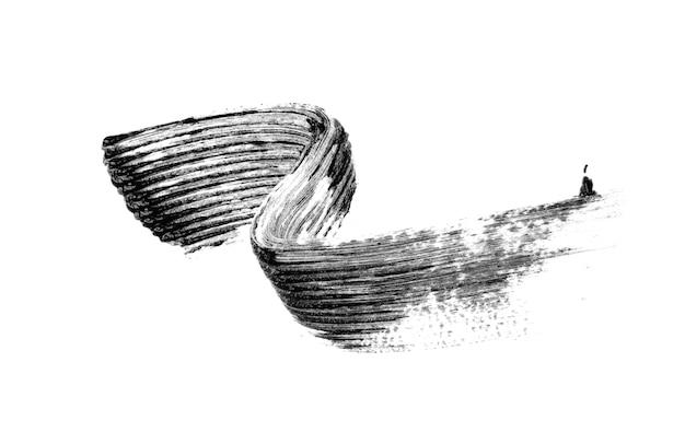 Black mascara brush stroke isolated