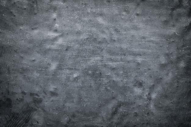 Black metal background, rough texture of alloy steel or titanium