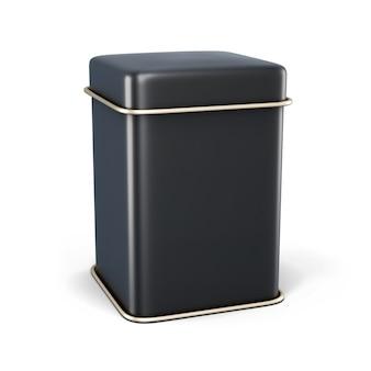 白で隔離されるお茶またはコーヒーのための黒い金属の瓶。