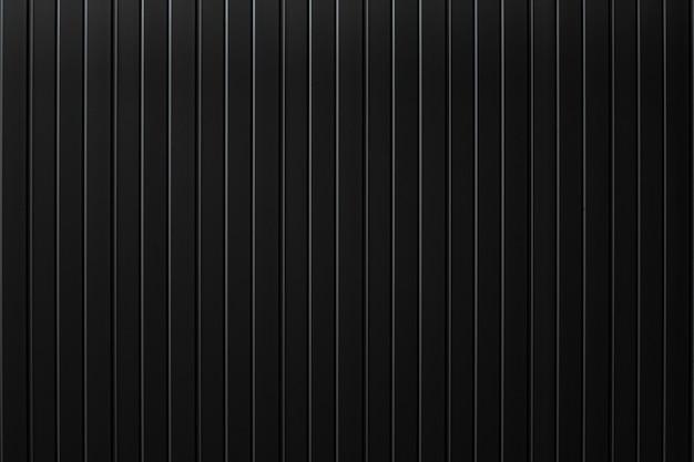 Black metal plate wall