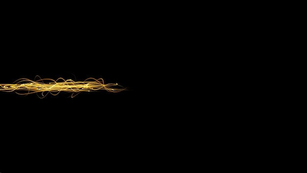 Черный минималистичный абстрактный фон с желтым лучом желтый световой поток на темном фоне