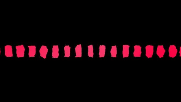 분홍색 모양 분홍색 돌이 있는 검은색 최소한의 배경
