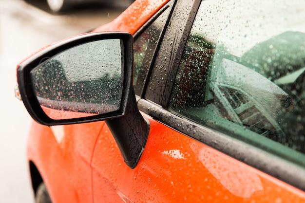 Black mirror of hte car