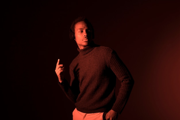 Black model posing