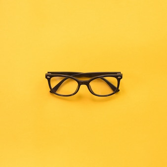 Black modern eye glasses