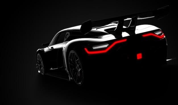 Черный современный спортивный автомобиль