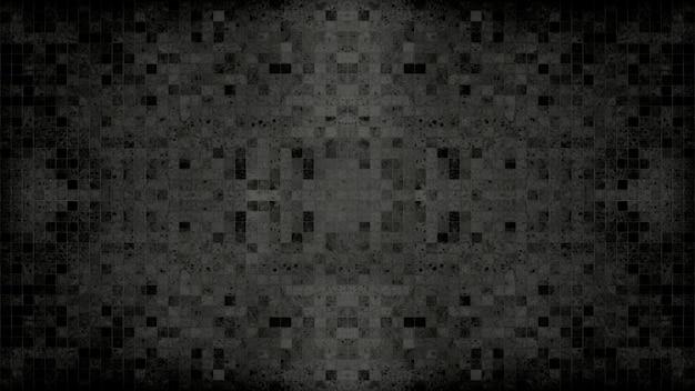 Black mosaic wall pattern.