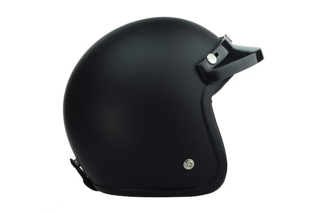 黒のバイククラシックヘルメット