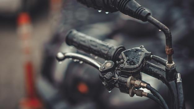 Black motorcle handlebar