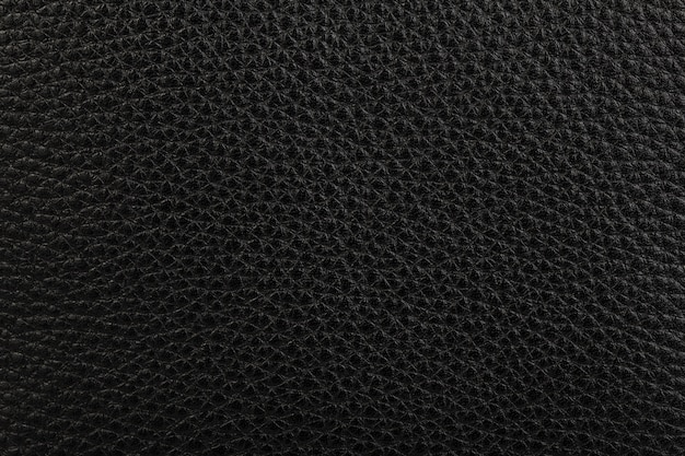 黒の天然皮革テクスチャ背景