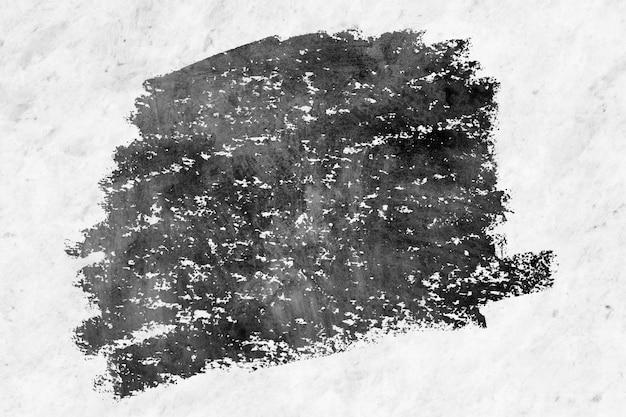 Struttura nera della pittura ad olio su un muro di cemento del grunge