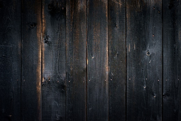 Black old wooden background with vertical boards