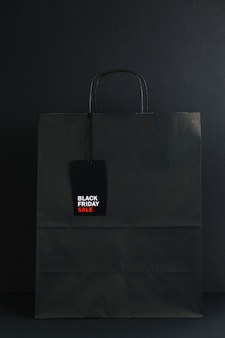 Black packet with sale tag