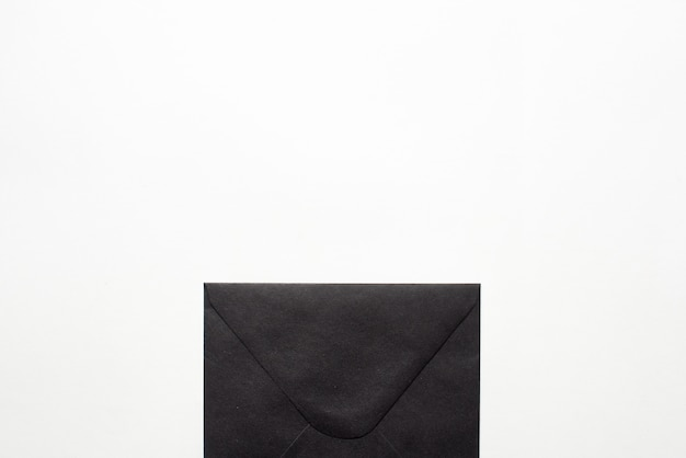Black paper envelope document. copy space