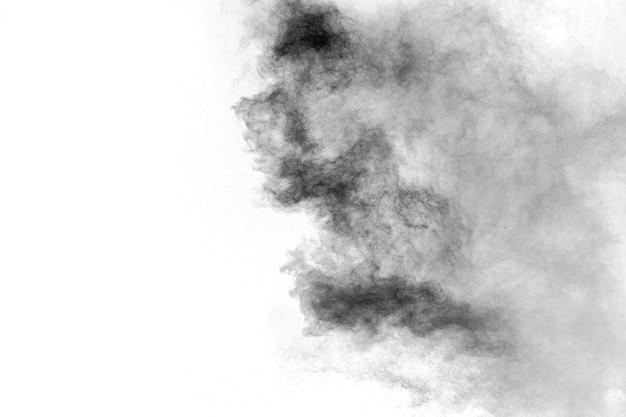 Black particles splatter