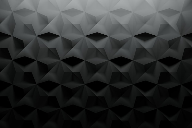 Black pattern with textured surface and random tiles
