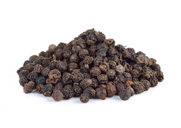 Black pepper seeds isolated