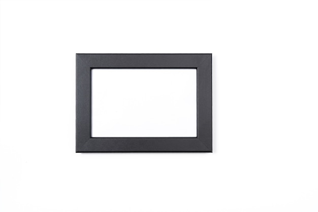 Black photo frame on white background