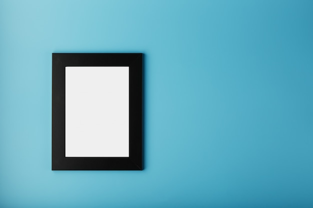 Black photo frame with empty space