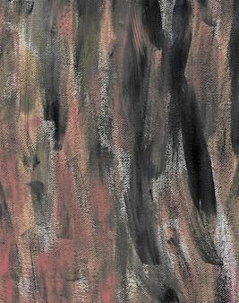 Черный розовый акрил текстура живопись абстрактный фон ручной работы файл сканирования высокого разрешения