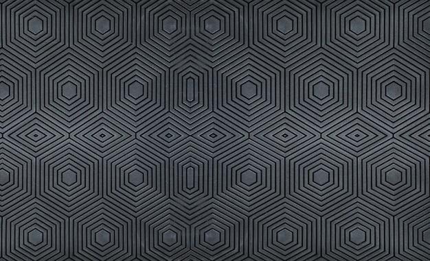 Black plastic abs pattern background.