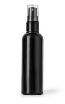 Черная пластиковая бутылка спрей \