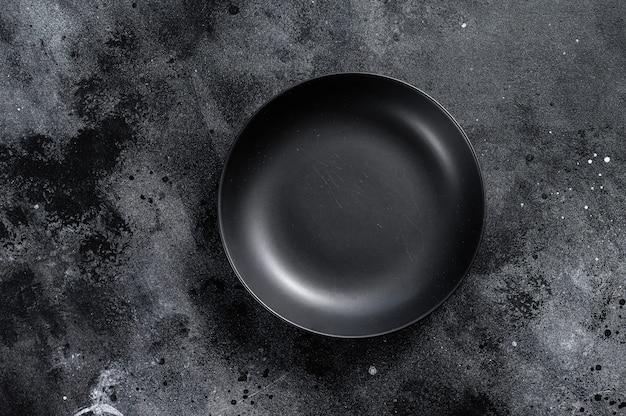 Black plate on textured black.