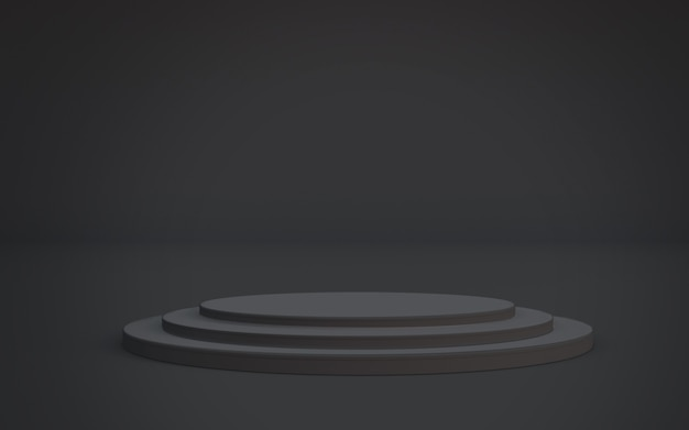 검은 연단 플랫폼 배경