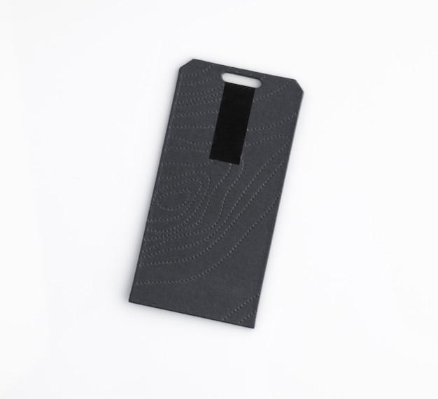 Черный ценник, изолированные на белом фоне