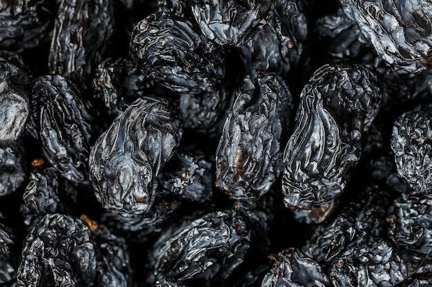 Black raisin texture, popular dried fruit