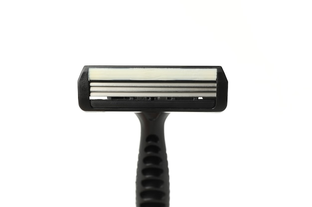 Black razor isolated on white