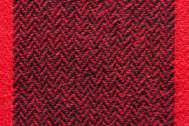 Black and red fabric texture