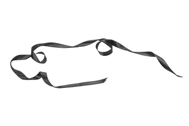 Black ribbon bow isolated